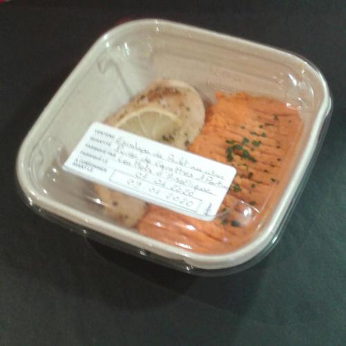 Poulet au citron - Mousseline de carottes