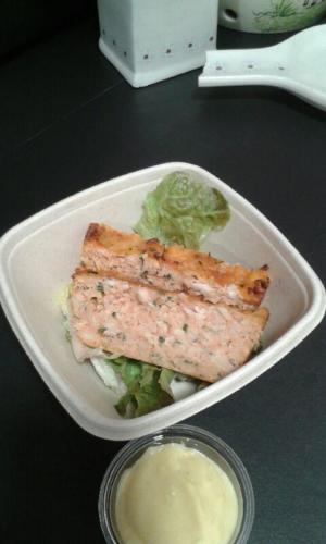 Pain de poissons sauce aïoli